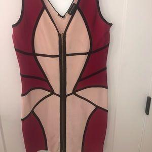 Bebe Color-block Bandage Dress